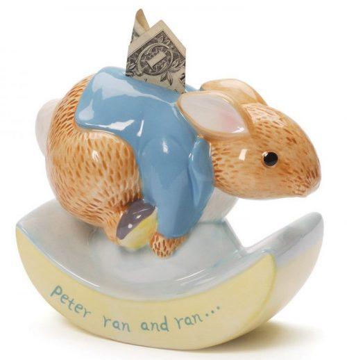 Colorful Peter Rabbit Rocking Piggy Bank