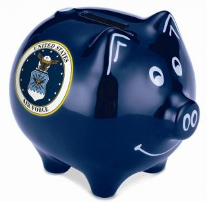 Dark Blue Polyresin Piggy Bank
