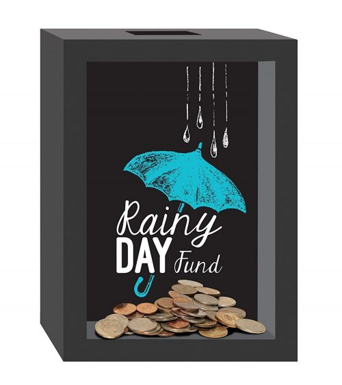 Decorative Rainy Day Fund Piggy Bank