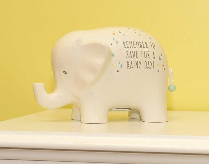 Elephant Pattern Ceramic Baby Piggy Bank