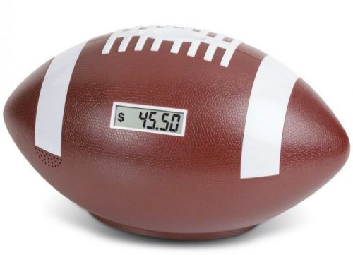 Football Digital Counting Piggy Bank
