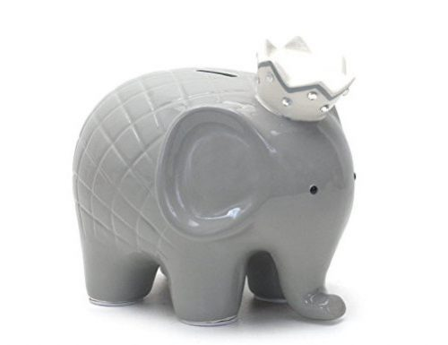 Grey Regal Elephant Piggy Bank