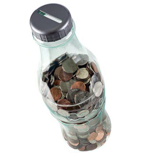 Transparent Coca Cola Bottle Bank