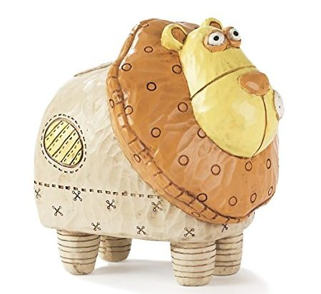 Whimsical Lion Piggy Bank