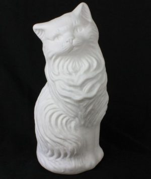 White Blow Mold Cat Piggy Bank