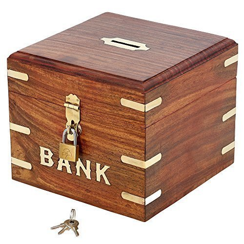 Wood Vacation Piggy Bank