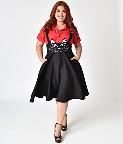 Black Cat Salem Suspender Swing Skirt