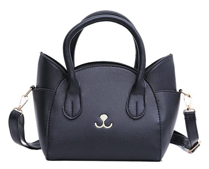 Cute Black Cat Design Shoulder Bag