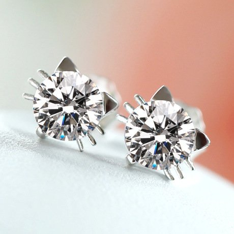 Lovely Mini Cat Earrings Stud