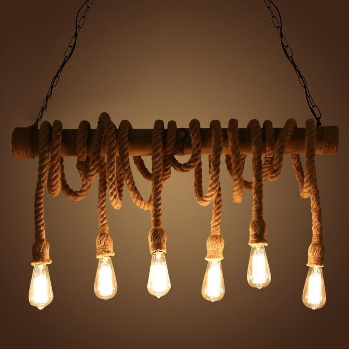 Natural Rope Bamboo Pendant Light