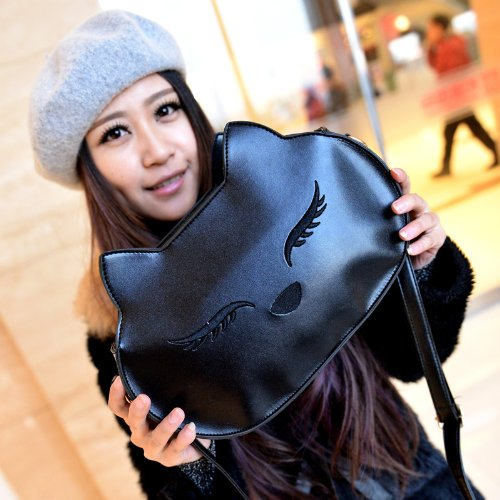 Pretty Black Cat Satchel