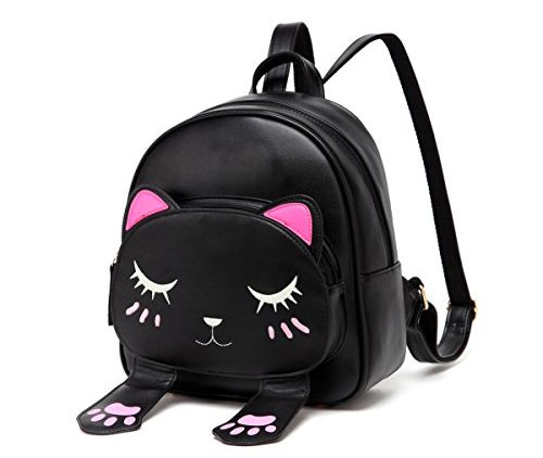 Simple Black Cat Design Holiday Bag