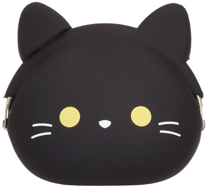 Stylish Black Cat Design Coin Purse