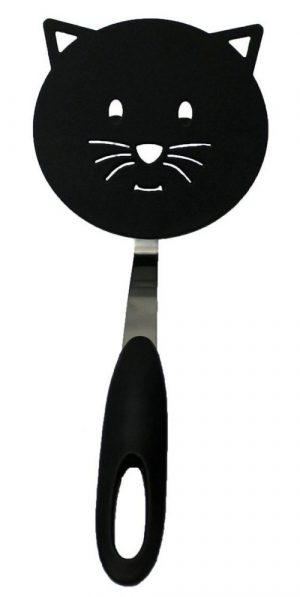 Whimsical Black Cat Face Design Cookware