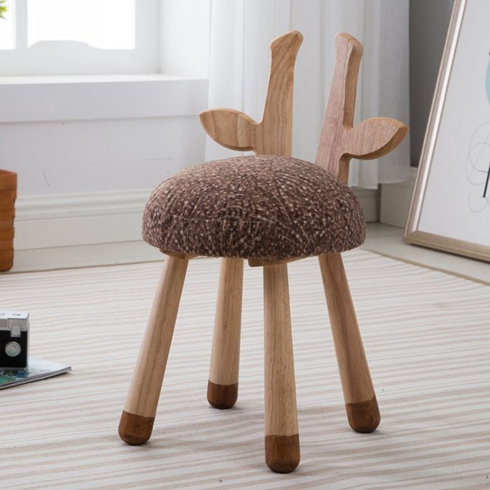 Brown Deer Pattern Chair for Kids