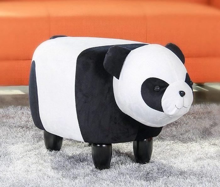 Cute Chinese Panda Pattern Storage Ottoman