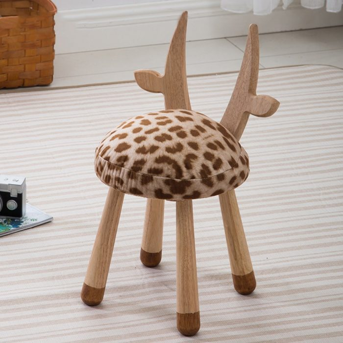 Decorative Deer Pattern Chair for Kids