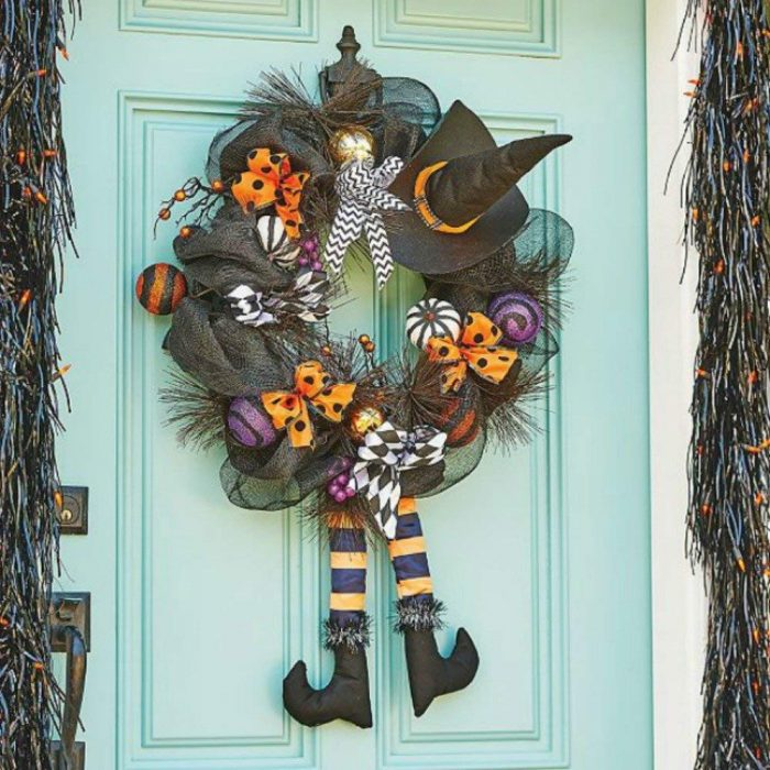 Adorable Witch Wreath Door Hanger