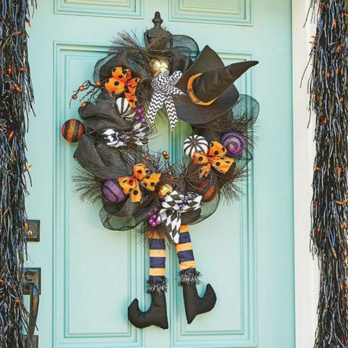 Adorable Witch Wreath Door Hanger