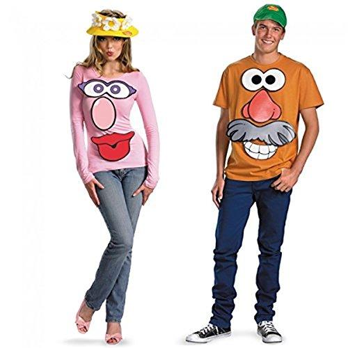 Colorful Mr. and Mrs. Potato Head Couple Costume