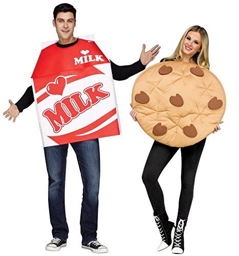 Comical Milk & Cookie Couple Costume