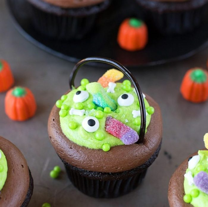 Decorative Witchs Cauldron Chocolate Cupcakes