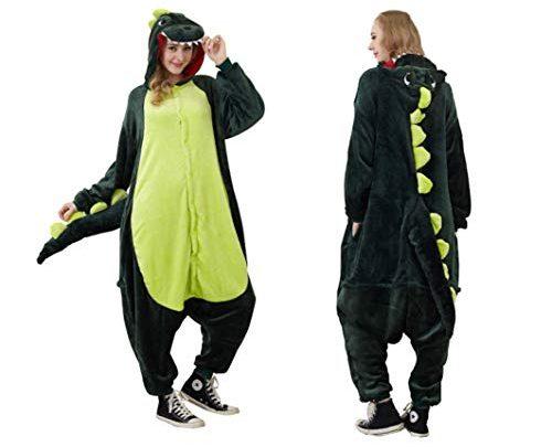 Green Dinosaur Couple Costume