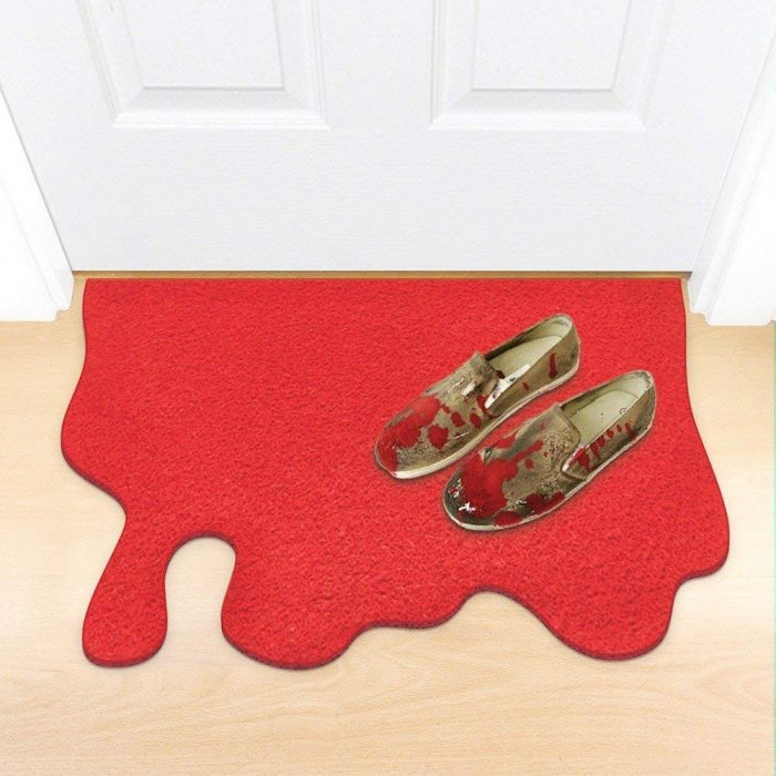 Hilarious Red Blood Splatter Doormat