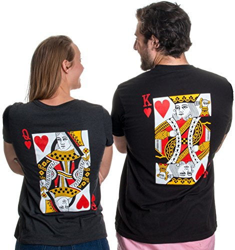 King Queen Shirts Matching Couple Costume