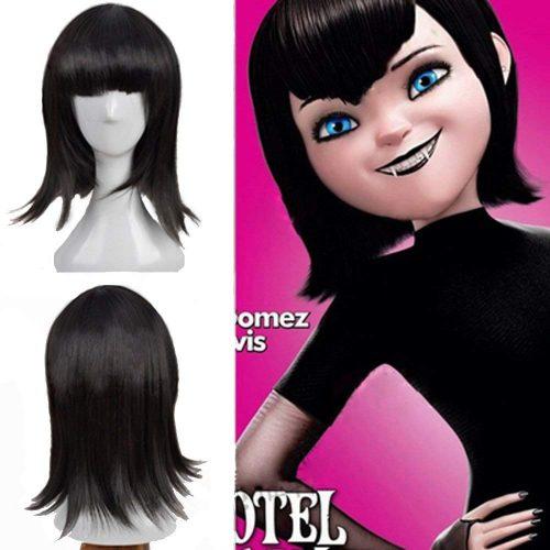 Mavis Black Wig Hair Halloween Hotel Transylvania Costume