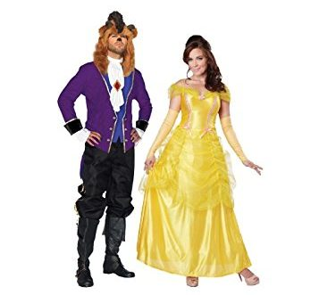 Multicolor Beauty and the Beast Couple Costume