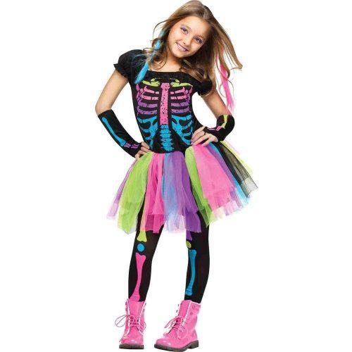 Multicolor Funky Punky Bones Costume