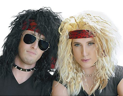 Rocker Wigs for Halloween Couple Costume