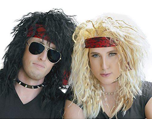 Rocker Wigs for Halloween Couple Costume
