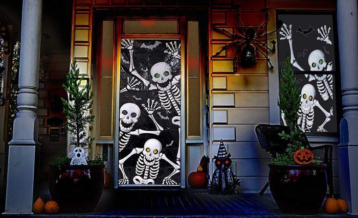 Scary Skeleton Door & Window Covers