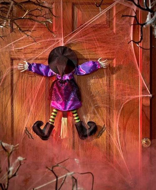 Whimsical Sound & Motion Halloween Door Decoration