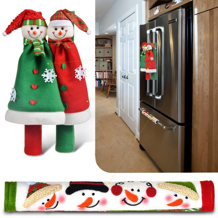 Adorable Snowman Appliance Handle Cover