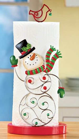 Charming Snowman Paper Towel Holder