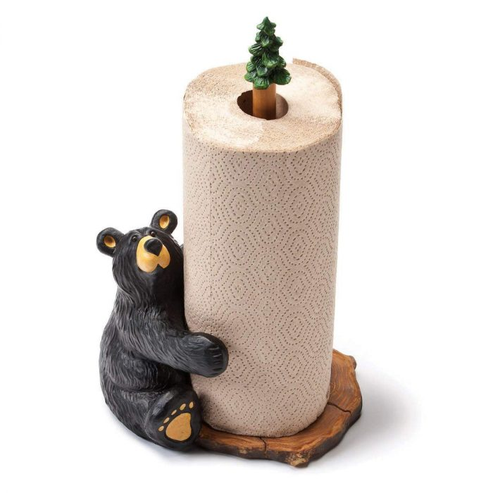 Cute Bear Hugging Paper Towel Holder