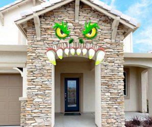 Crazy Ideas to Dress up Door for Halloween