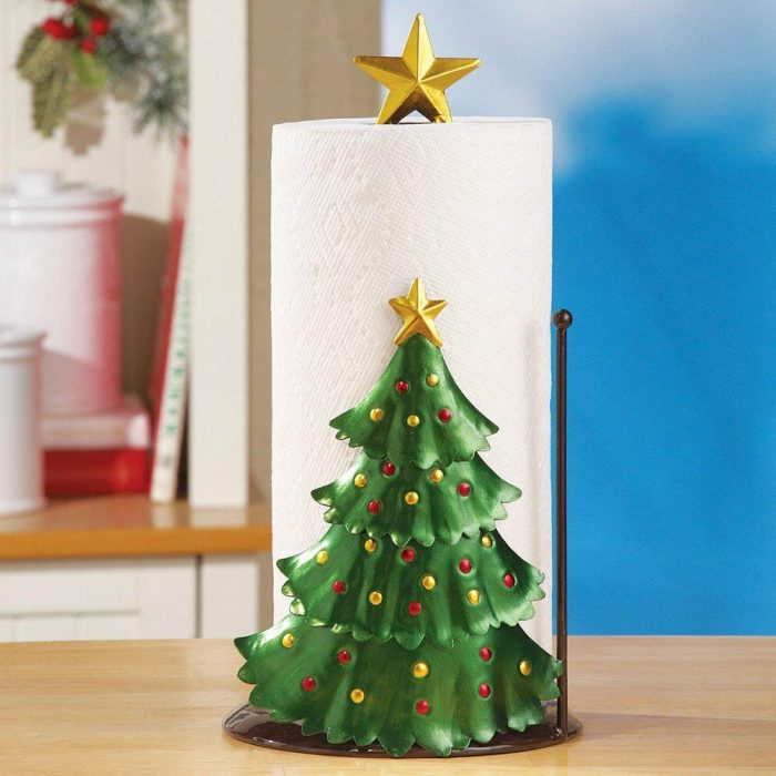 Decorative Christmas Tree Paper Towel Holder