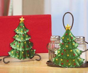 22 Holiday Paper Towel Holder & Serveware Set