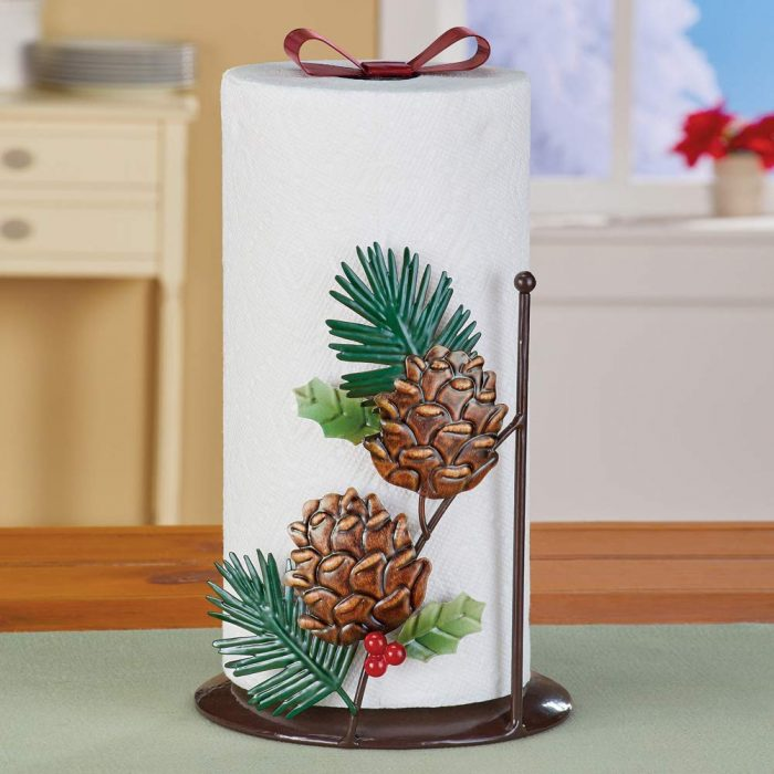 Durable Pinecones Paper Towel Holder
