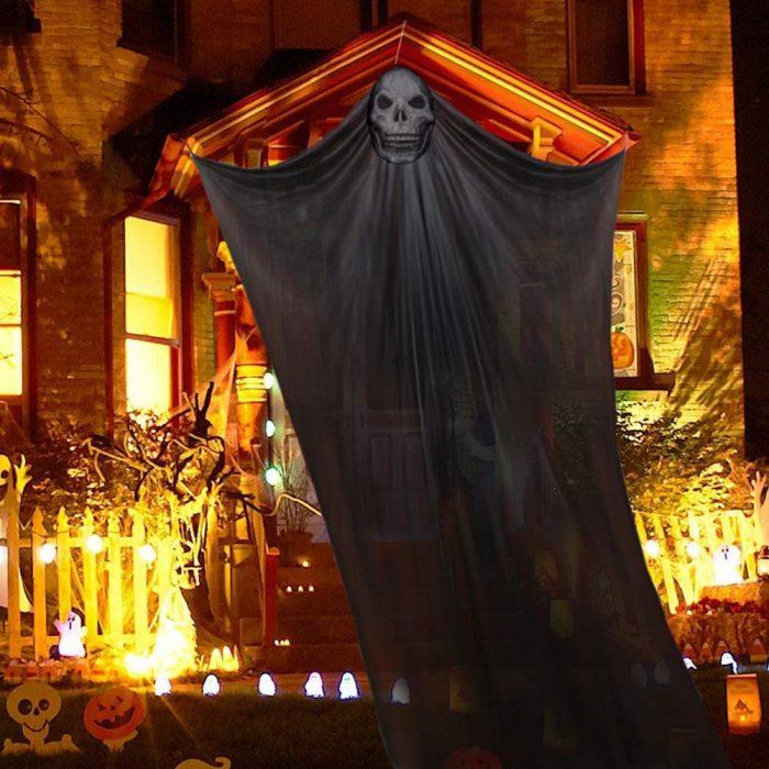 Hanging Skeleton Halloween Door Decoration