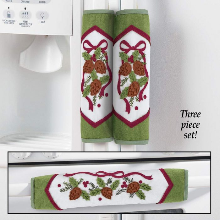 Holiday Pine Kitchen Appliance Handle Cover