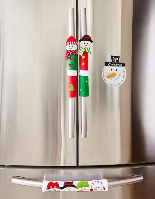 Lovely Snowman Appliance Handle Covers