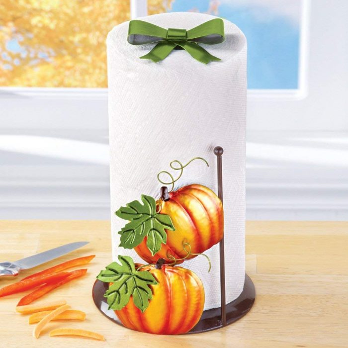 Pumpkin Pattern Paper Towel Holder