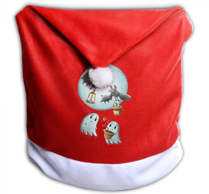 Santa Clause Red Hat Halloween Chair Cover