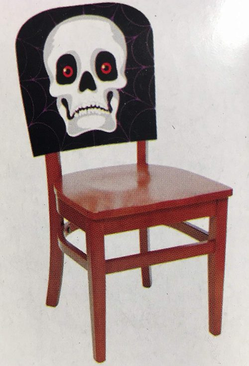 Spider Web Skull Halloween Chair Cover