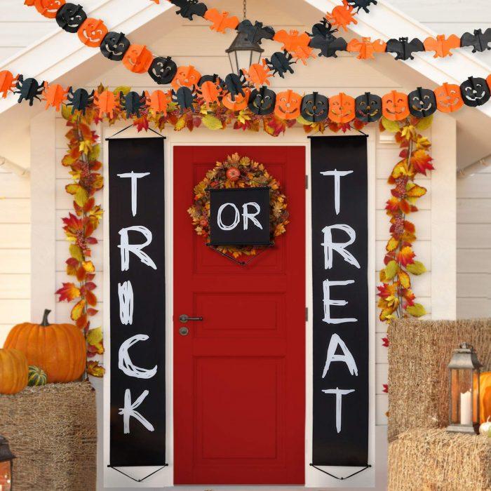 Trick OR Treat Halloween Outdoor Banner